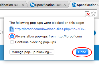 If you are unable to save or download files in browser, try below settings in your browser.