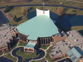 White Membrane Flat Roof - Bethesda Christian Church